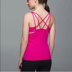 Lululemon pink strappy workout tank top 2